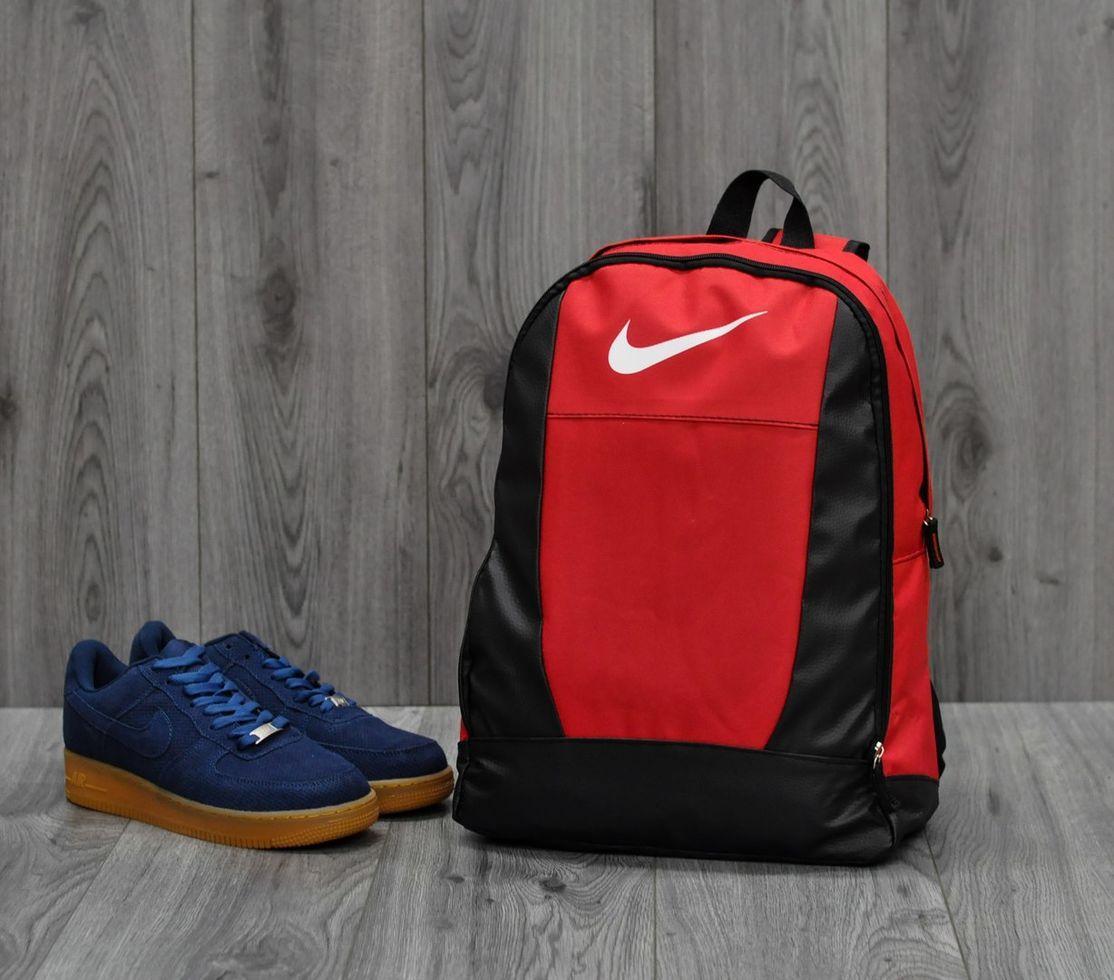 Городской рюкзак Nike на 2 отделения красный