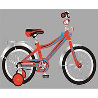 Детский двухколесный велосипед 16 дюймов Super Bike красный