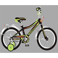 Детский двухколесный велосипед 16 дюймов Super Bike черный