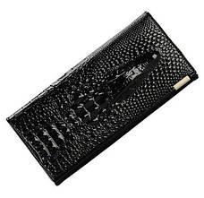 Жіночий шкіряний гаманець клатч 3D «Крокодил», фото 2