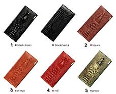 Жіночий шкіряний гаманець клатч 3D «Крокодил», фото 3