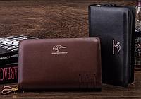 Кожаный мужской кошелек-барсетка портмоне от Kangaroo Kingdom