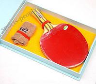 Набор для настольного тенниса/пинг-понга 729 Friendship Fighter V Concave: ракетка+ напульсник