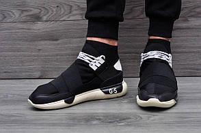 Модные кроссовки в стиле Adidas Fashion Mato Y-3 черно-бежевые, фото 2