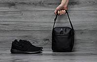 Мужская кожаная сумка-барсетка Nike 2 вида