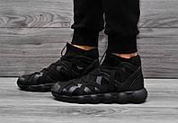 Мужские кроссовки в стиле Adidas Y-3 черного цвета
