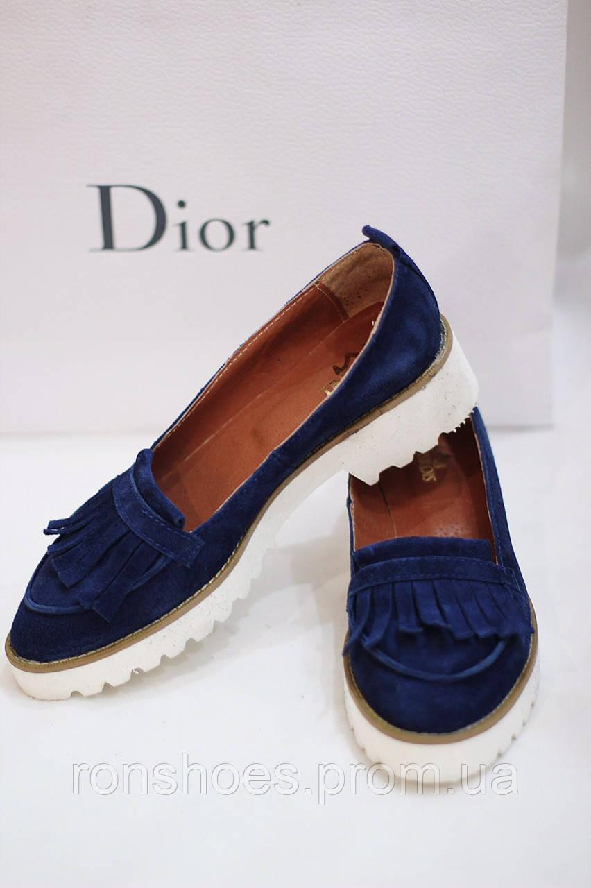 84968d0ab Стильные женские комфортные туфли- лоферы от TroisRois из натурального  турецкого замша