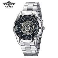 Мужские механические наручные часы Winner Skeleton Luxury