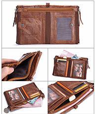 Мужской кошелек с натуральной кожи Crazy Horse 2 цвета в наличии, фото 3