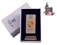 """Спиральная USB зажигалка """"Porsche"""" №4794A-2, двухсторонняя спираль, подарочная коробка, модный девайс"""