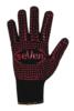 Перчатки трикотажные черные с ПВХ точкой двухсторонние