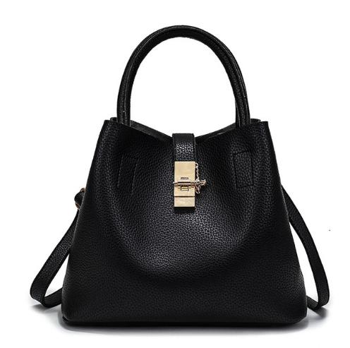 Дизайнерская сумка женская черная код 3-255