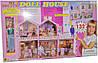 Кукольный домик для Барби 132 детали с КУКЛОЙ Doll House 91D 2 этажа 1 веранда