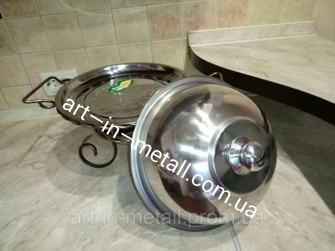 Подставка для шашлыка САДЖ Vip 28 см с крышкой