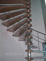 Лестница винтовая со ступенями разного размера из нержавеющей стали ,Краматорск