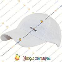 Однотонная Белая кепка для подростков (объём 57- 58 см) Один цвет (vti851)