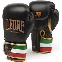 Боксерские перчатки Leone Italy Black 12 ун.