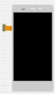 Дисплей с тачскрином Fly iQ453 Quad Luminor FHD белый