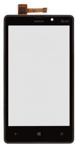 Тачскрин сенсор Nokia 820 Lumia черный в рамке (HQ)