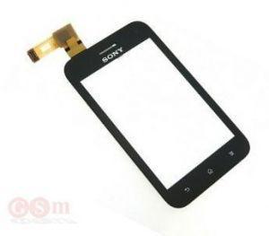 Тачскрин сенсор Sony ST21i Xperia Tipo, ST21i2 черный (HQ)