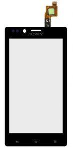 Тачскрин сенсор Sony ST26i Xperia J черный