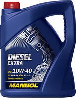 Масло моторное MANNOL Diesel Extra п/синт. 10w40 5L CH-4/SJ (шт.)