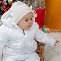 Куртка зимняя для девочки Mimino Baby Снежная принцесса, цвет белый