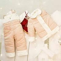 Куртка зимняя для девочки Mimino Первый снег, цвет молочный