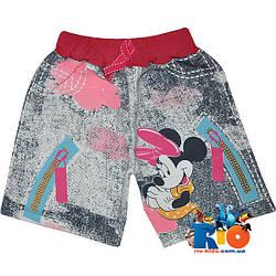 """Удобные и яркие шорты """"Playful Minnie"""" , трикотаж , для девочек от 4-7 лет (4 ед. в уп.)"""