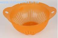 Дуршлаг d=22 ТМ Алеана (оранжевый-прозрачный)