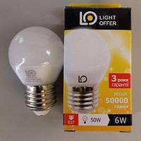 LED лампа LightOffer 6W G45 E27 4000K