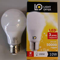 LED лампа LightOffer 10W A60 E27 4000K