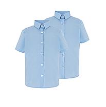 Школьная блуза-рубашка голубая с коротким рукавом на девочку 8-9-10 лет George (Англия)