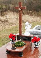 Детский памятник с крестом и ангелом