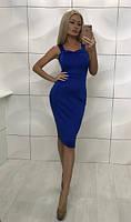 Платье с расклешенной юбкой, синий