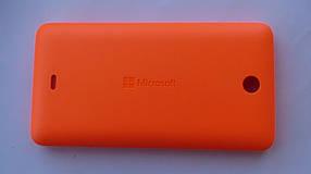 Задняя крышка Microsoft (Nokia) Lumia 430 оранжевая оригинал, 8003542