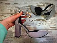 Шикарные туфли Olimpia замш серый