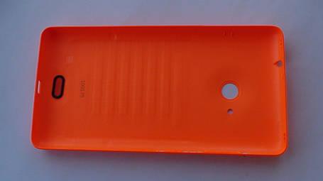 Задняя крышка Microsoft (Nokia) Lumia 535 оранжевая, оригинал, 8003488, фото 2