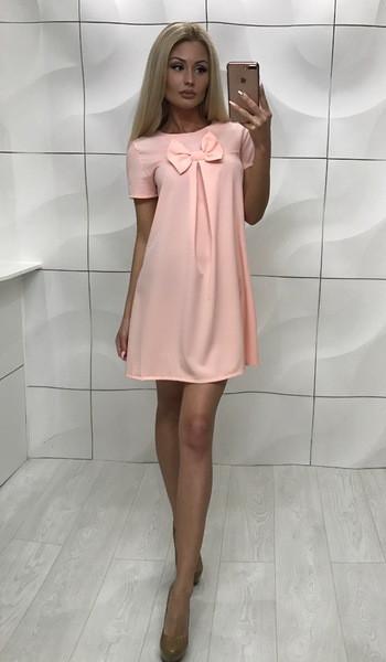 Платье бридж персиковое