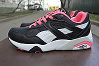 Puma Trinomic яркие черно розовые кроссовки