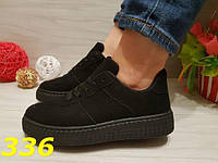 Кроссовки на платформе черные, р.36-41