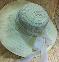Молочная шляпа  летняя с большими полями