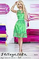 Красивое торжественное платье Розалия салат