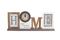 """Фоторамка с часами """"Home"""" на 2 фото"""
