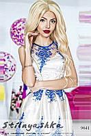 Красивое торжественное платье Розалия белое