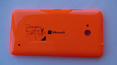 Задняя крышка Microsoft (Nokia) Lumia 640 DS оранжевая, оригинал, 02509P7, фото 2