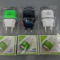 Сетевой адаптер 2USB ES-D03 цвета в ассортименте