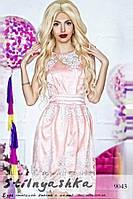 Красивое торжественное платье Розалия розовое