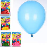 Шарики надувные MK 0011-1, 50шт, 5 цветов, в кульке 1 цвет, 18,5-28-1см