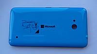 Задняя крышка Microsoft (Nokia) Lumia 640 DS голубая, оригинал, 02509R9